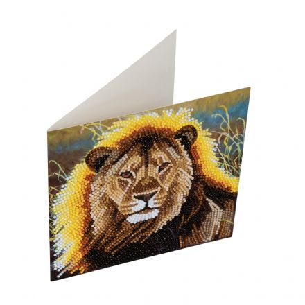 Crystal Art D.I.Y card kit RESTING LION